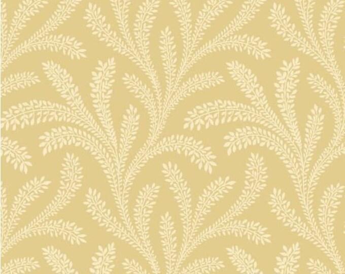 "P&B Textiles/Washington Street Studio 108"" Wide Back Historical Quilt Backs Vines Ecru Floral Cotton Fabric BTY"