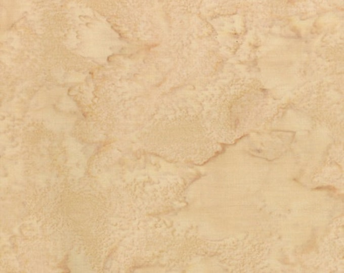Hoffman 1895 Watercolors Solid Batik Fabric Aspen Tan Cream Beige 1895-367 BTHY