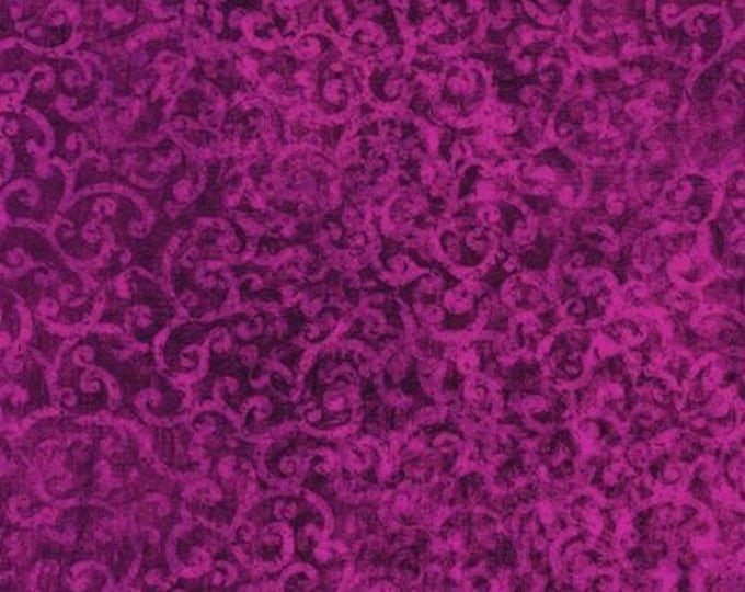 Quilting Treasures Scrollscapes Dan Morris Magenta Violet Purple Scroll Swirl Fabric 24362-VJ BTY