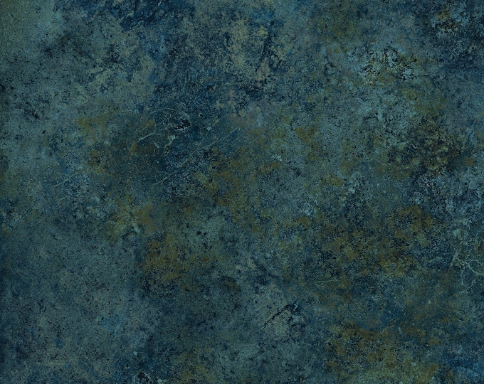 Northcott Stonehedge Gradations Blue Teal Brown Mottled Granite Marble Basic Fabric 39300-49 BTY