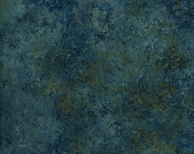Northcott Stonehenge Gradations Blue Teal Brown Mottled Granite Marble Basic Fabric 39300-49 BTY