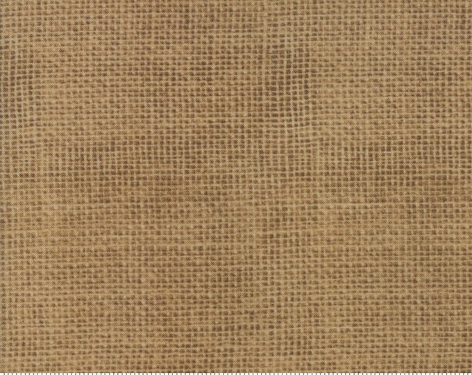 Moda Brew Deb Strain Coffee Weave Dark Tan Beige Burlap Look Cotton Fabric 19858-12 BTY