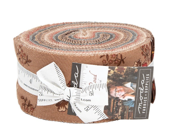 Moda Hickory Road Jo Morton Brown Red Blue Tan Civil War Floral Jelly Roll 2.5 Fabric Strips