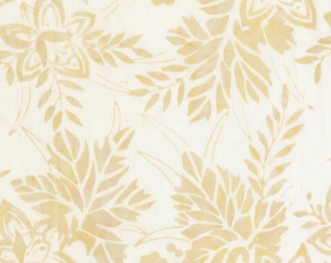 Anthology Art Inspired Batik Pierre Renoir Girls At the Piano Cream Beige Leaf Floral Fabric 267Q-4 BTY