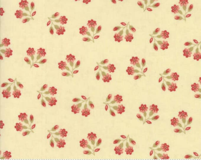 Moda Collections for a Cause Compassion Cream Red Floral OOP Fabric 46254-11 BTY