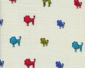 Clover Lion Red Blue Lime Solid Double Gauze Lightweight Cotton and Steel Fabric BTY