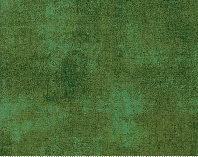 Moda Grunge Basics PINE Green Mottled Background Fabric 30150-367 Fabric BTY
