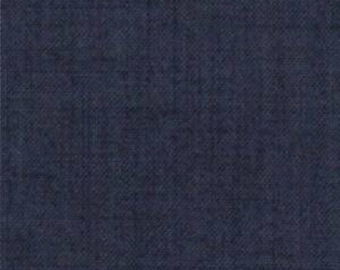 Moda French General Favorites Navy Blue Texture Tonal Fabric 13529-87 BTY