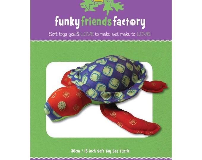 """Stu the SEA TURTLE 4514 Stuffed Toy 15""""/38cm-Funky Friends Factory"""
