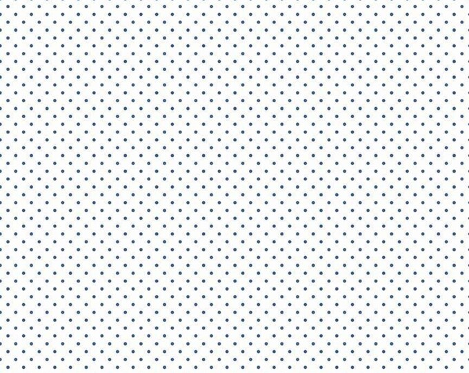 Riley Blake Designs Small Dots DENIM C660 Cotton Fabric BTY