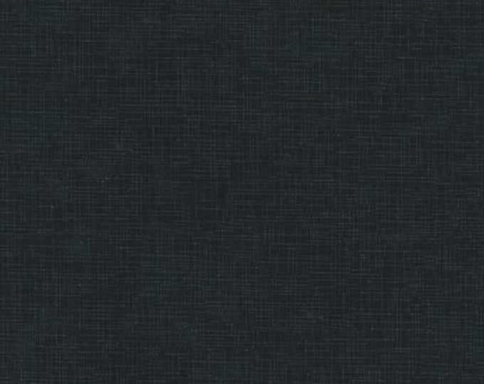 Kaufman Quilters Linen Charcoal Gray Grey Black 100% Cotton Textured Fabric 9864-184 BTY