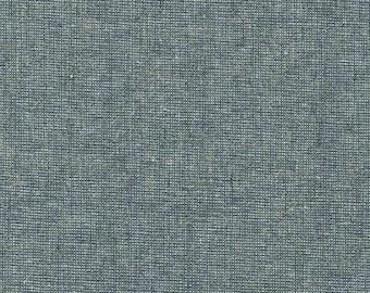 Kaufman Essex Yarn Dyed Metallic 50 Linen 40 Cotton 10 Lurex Linen Blend Canvas STORM E105-458 Fabric BTY