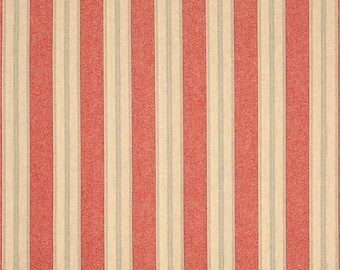 Windham Limited Edition Nancy Gere Cotton Denim-Like Striped Red Blue Beige Fabric 40709-2 BTY