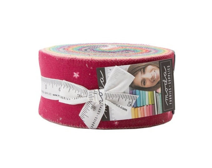 Moda Ombre Bloom V and Co. Jelly Roll 2.5 Fabric Strips 10870JR
