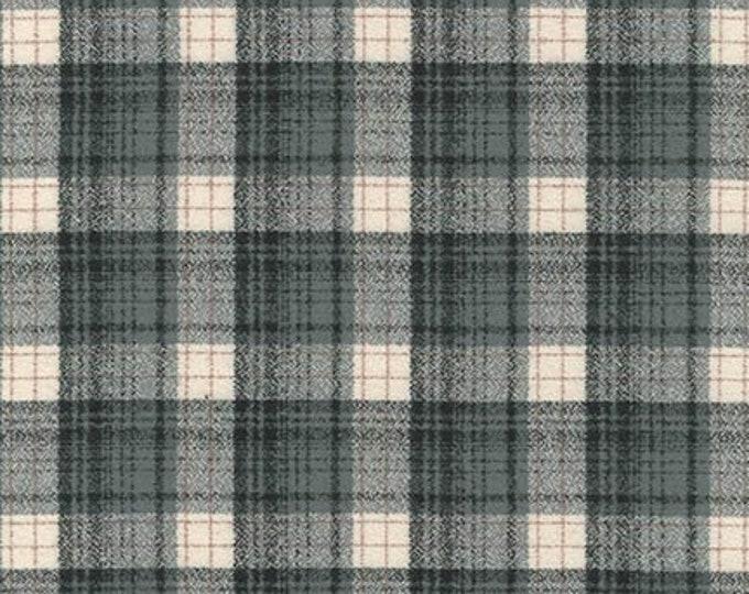 Kaufman Mammoth Flannel Smoke Gray Grey Cream Beige Plaid Fabric 14882-293 BTY
