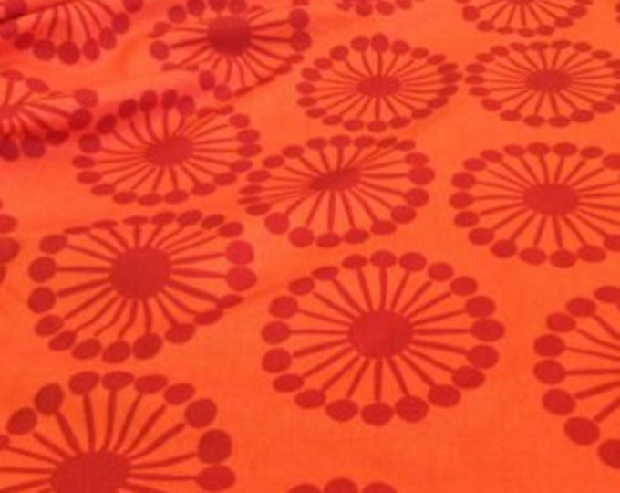 Windham fabrics basics Raj collection vibrant orange floral by FRENCH BULL  Cotton 36542-8 BTY