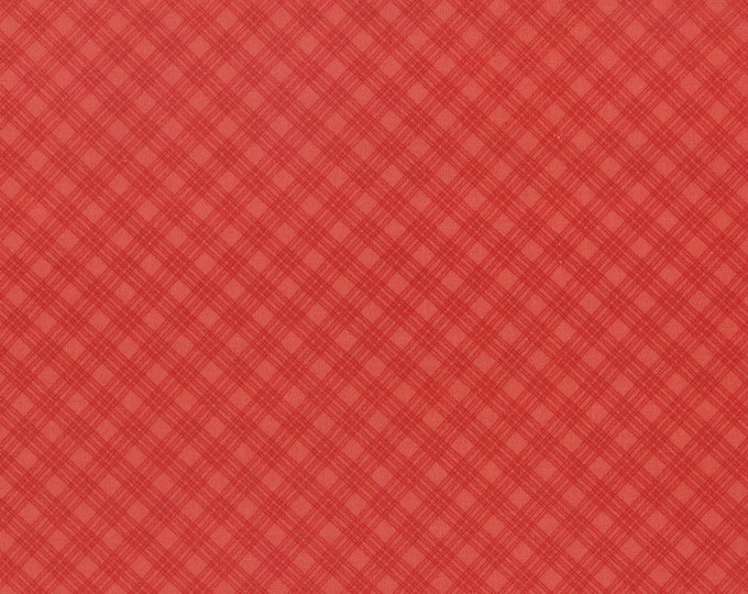 Moda Snowfall Prints Minick and Simpson Red Tonal Check Plaid Holiday Fabric 14837-22 BTY