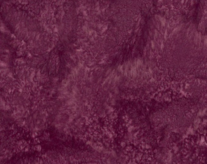 Hoffman 1895 Watercolors Solid Batik Fabric 1895-241 Sonoma Purple BTY