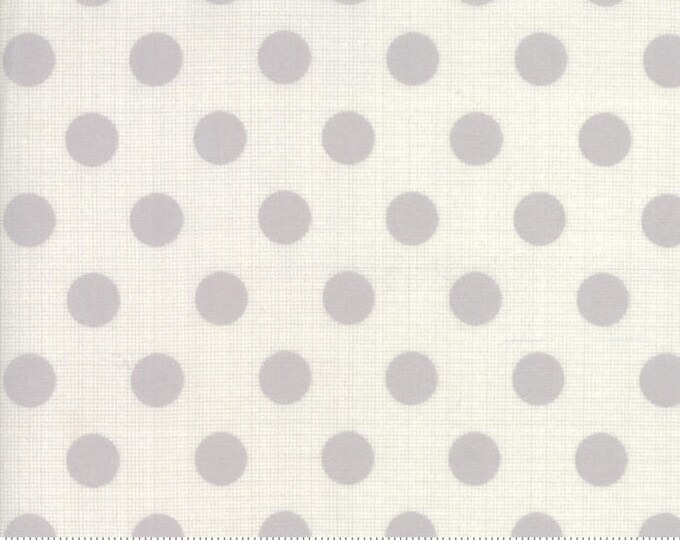 Jen Kingwell Circulus Tiny Plaid Polka Dot Stone Grey Fabric 18131-28 BTY