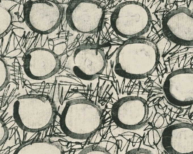 NEW Windham The Opposite by Marcia Derse Black White Gray Grey Circle Salt Ponds Modern Fabric 51066-1 BTY