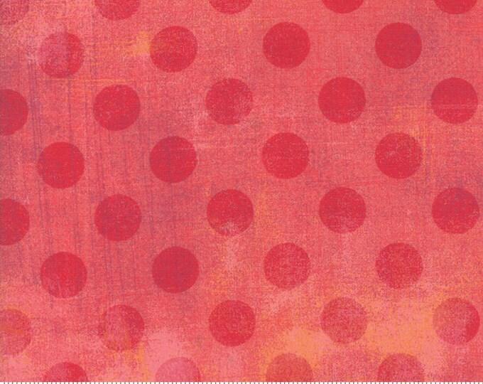 Moda Basic NEW SALMON Hits the Spot Pink Polka Dot Grunge 30149-47 Fabric BTY