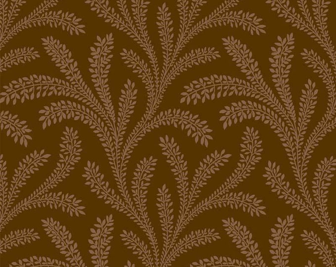 "P&B Textiles/Washington Street Studio 108"" Wide Back Historical Quilt Backs Floral Brown  Cotton HIQB 4054 Z Fabric BTY"