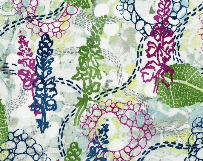 RJR Urban Garden Leslie Tucker Jenison Garden Story Morning Walk Floral Fabric 3357-001 BTY