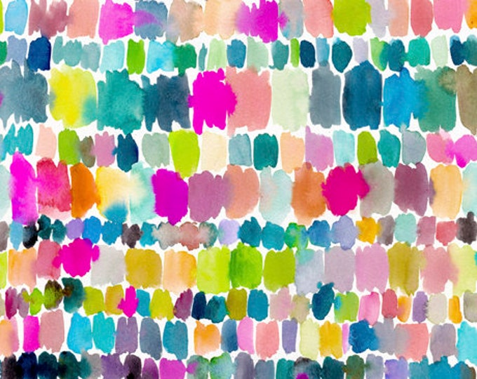 Quilting Treasures QT Fabrics Wild & Fruity Brush strokes Paint Splashes Pink Blue Green Fabric 27047-X BTY