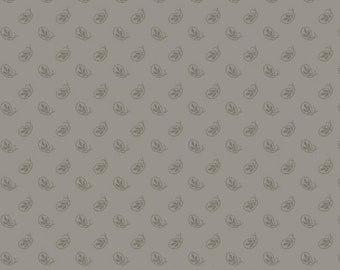 Marcus Nancy Rink On Plumberry Lane Lavendar Grey Gray Floral Fabric 2278-0140 BTY