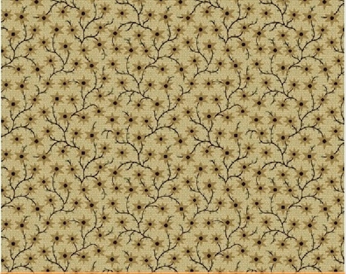 Windham Kindred Spirits Beige Cream Tan Floral Branch Civil War Reproduction 40215-5 Fabric BTY