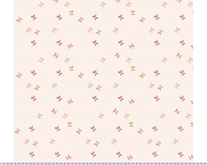 Marcus Nancy Rink On Plumberry Lane White Gold Pink Floral Fabric 2277-0130 BTY