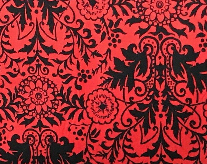 Ink & Arrow QT Esme 26106 - jr Red and black Cotton  Fabric  BTY