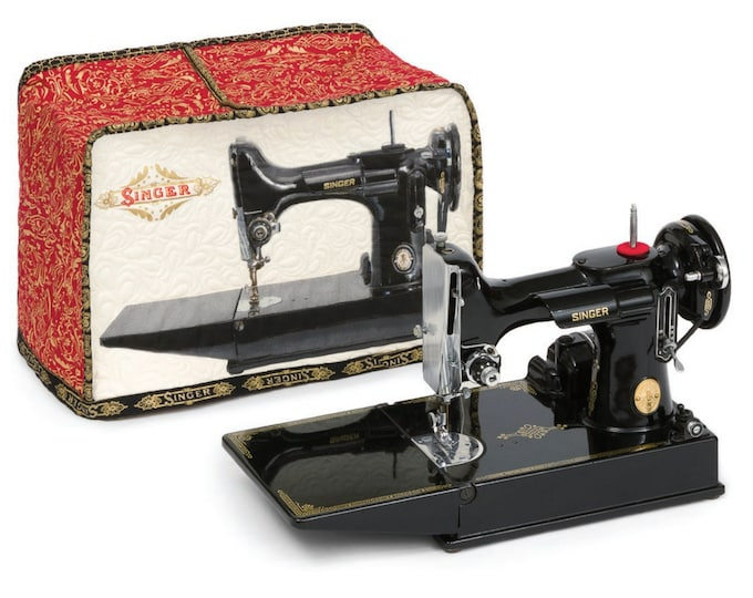 Kaufman Fannie the Featherweight Sewing with Singer Fabric Cover Kit 15 x 8 x 11