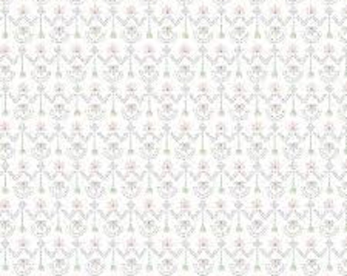 Camelot   Fabrics 21180505 Pretty Little Woods White Geo Floral BTY