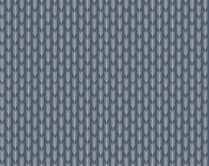 Riley Blake High Adventure Navy Blue Arrow Wheat by Dani Fabric C5555 BTY
