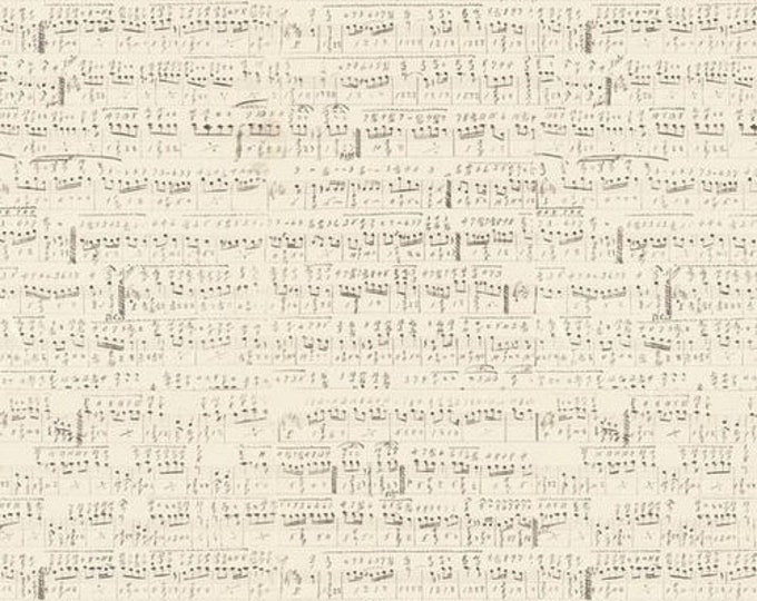 Free Spirit Tim Holtz - Foundations - Symphony Sheet Music Note Fabric PWTH022 BTY