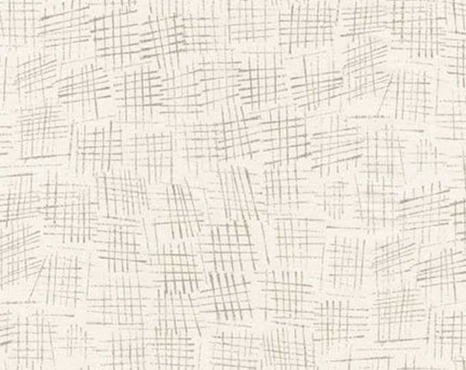 Robert Kaufman Jennifer Sampou Chalk and Charcoal Shitake Eggshell Taupe  lines Fabric AJS-17511-383 BTY