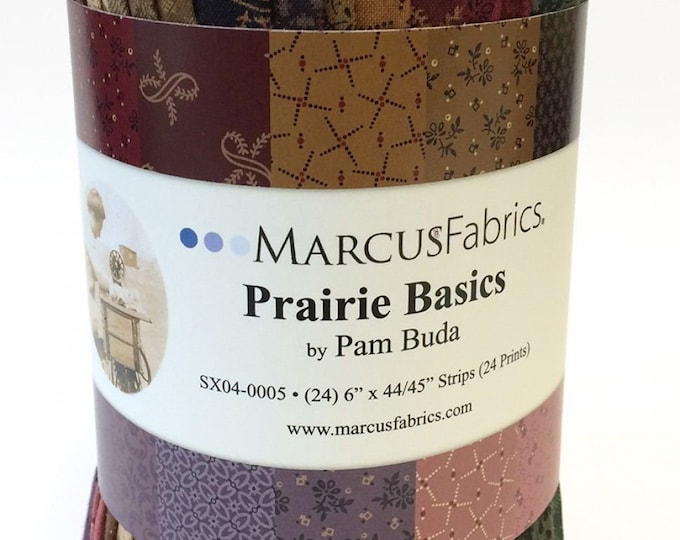 Marcus Fabrics Prairie Basics Pam Buda Civil War Color 6 inch Strips Red Blue Green Pink Fabric Roll