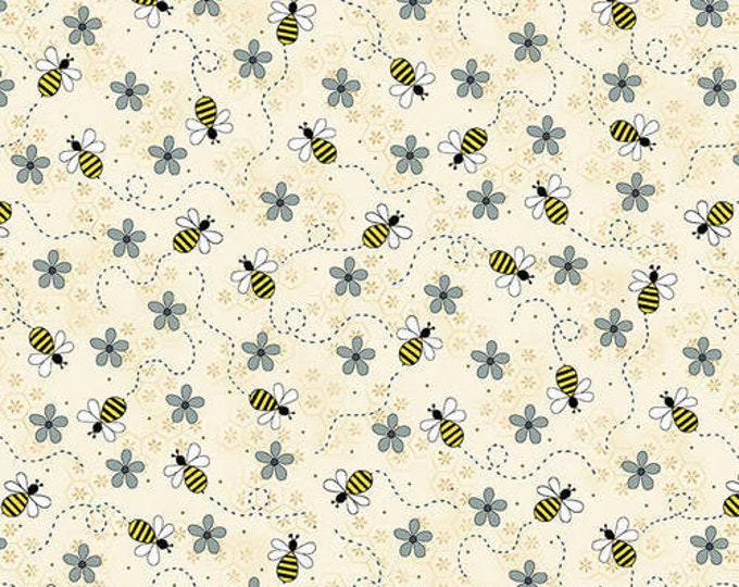 Henry Glass All About The Bees  Gail Pan Bees Trails 2425-33 quilting Fabric Cotton BTY
