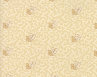 Moda Betsy Chutchian Hopes Journey Cream Beige Floral Flower Fabric BTY 31530-11