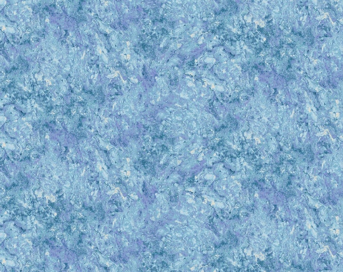 Northcott Stonehenge Gradations Mystic Midnight Periwinkle Light Blue Purple Mottled Marble Basic Fabric 39303-46 BTY