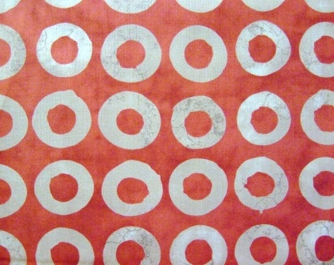 Moda Simple marks by Malka Dubrawsky cotton brick red 23223-12   BTY