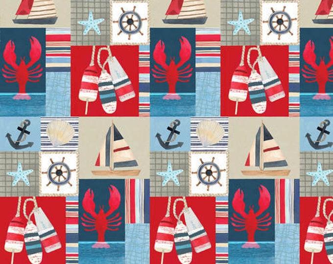 Blank Quilting B-1153-75 Blue  Patch Pop Studios HARBORDAYS Fabric BTY 045945235223