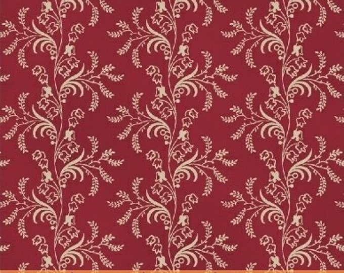 Windham The Blue and The Grey Red Leafy Floral Civil War Reproduction  42149-3 Fabric BTY