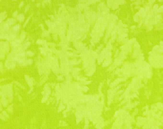 RJR Handspray Mottled Bright Lime Green Tonal Fabric 4758-083 BTY