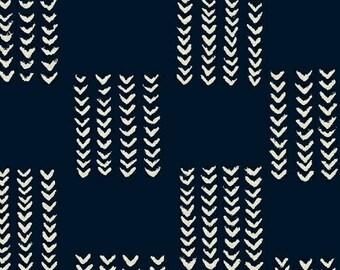 Windham Twilight Indigo Navy Blue White Arrow 100% Cotton Mud Cloth 41097-1 BTY