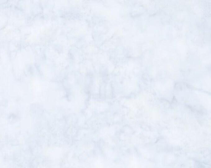 Hoffman 1895 Watercolors Solid Batik Fabric 1895-492 Breeze Light Ice Blue BTY