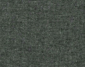 Kaufman Essex Yarn Dyed Metallic 50 Linen 40 Cotton 10 Lurex Linen Blend Canvas EBONY E105-364 Fabric BTY
