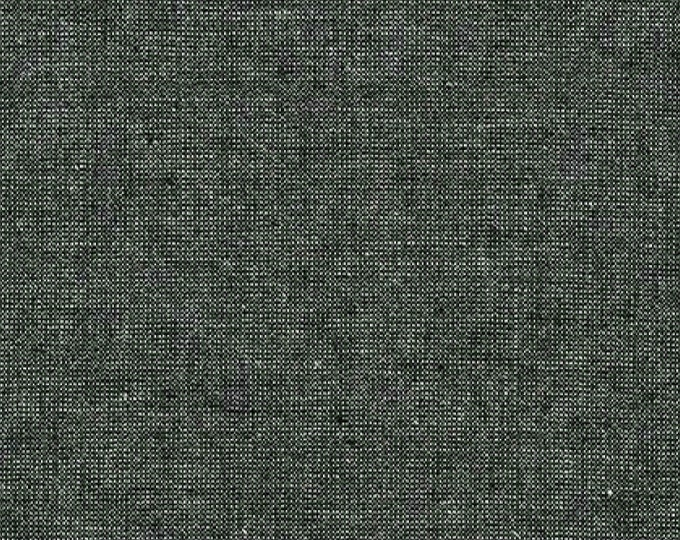 Kaufman Essex Yarn Dyed Metallic 50 Linen 40 Cotton 10 Lurex Linen Blend Canvas EBONY E105-364 Fabric BTHY
