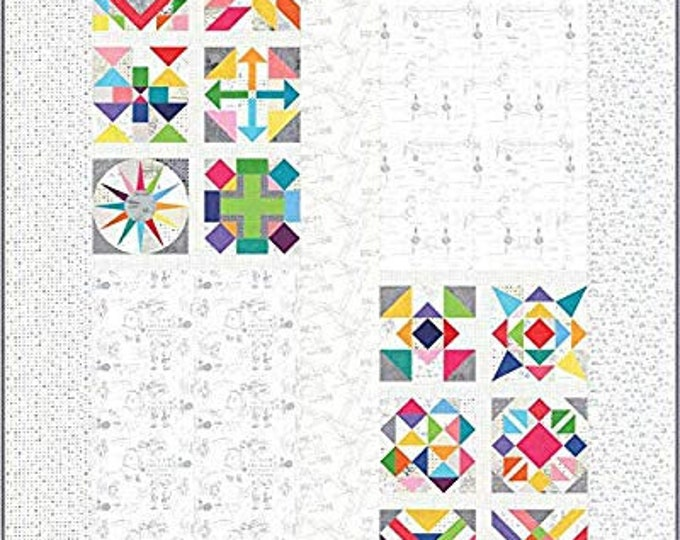 NEW Moda Spotted Block of the Month Sampler More Paper Modern Background Fabric Complete Quilt KIT 85 x 85